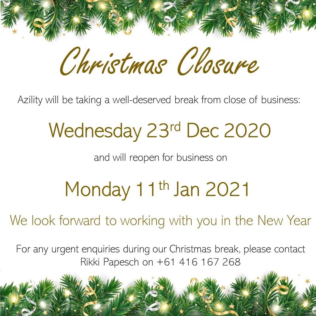 Christmas closure hours